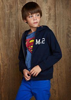 MANGO KIDS - College hoodie #FW14 #KIDS #BOYS