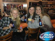 #BudLight Night at Fuzzy's, Dirty Birds and Pauley's!! #Beer #Athens #Gerogia #BeerLovesYou