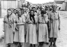 The first 'Dolls' House', as they were known, was set up a year later in 1942, behind barred windows at Mauthausen concentration camp in Austria. Pictured: Female prisoners, who did not work in the brothel, at roll call in Auschwitz