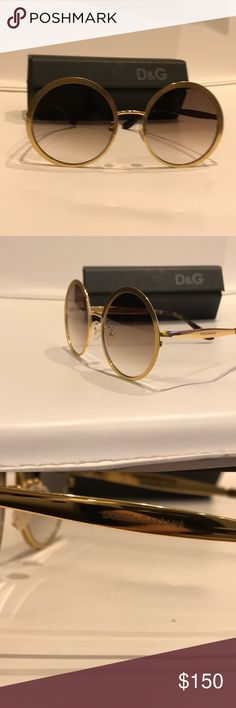 501a35c50f5bd DOLC   GABANA round gold Metal glasses Absolutely new gorgeous and shiny  Dolce   Gabbana Accessories