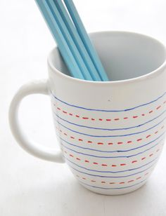 DIY Simple Custom Painted Mugs for Teachers + More  - Home - Creature Comforts - daily inspiration, style, diy projects + freebies