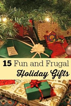 Great gifts don't have to cost a fortune! Check out these terrific ideas for fun and frugal holiday gifts. Some are pretty simple and easy, too- no need to be a glue gun wizard!
