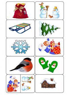 """Домино """"Зима"""" - запись пользователя Савицкая Татьяна (fatsia0) (fatsia0) в дневнике - Babyblog.ru Montessori Materials, Kid Beds, Adult Coloring Pages, Crafts To Make, Activities For Kids, Calendar, Memories, Games, School"""