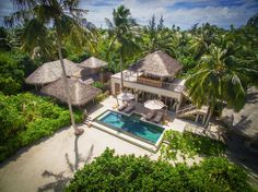 Two Bedroom Ocean Beach Villa With Pool Six Senses Laamu Maldives