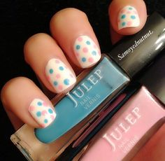 DIY Spring Polka Dots Nail Tutorial! SO Cute And Simple!