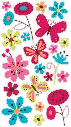 Paper Crafts > Stickers > Butterflies > Butterfly Garden Sticko Stickers: A Cherry On Top