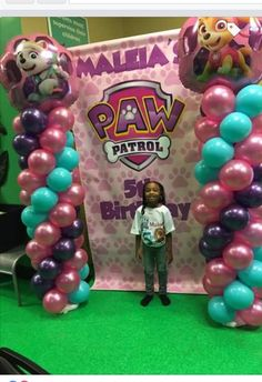 Customized paw patrol backdrop