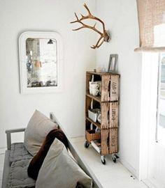 Decoratie/Woonkamer | Mooi kastje van aardappelkistjes Door Clarieke