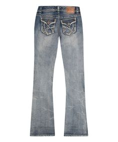Another great find on #zulily! Blue Tinted Bootcut Jeans - Plus #zulilyfinds