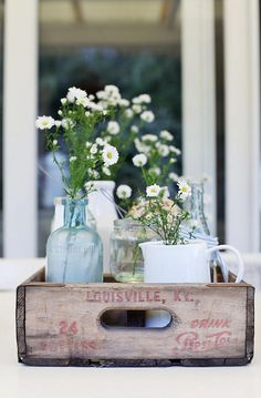 """farmhousetouches: """" (via Beach Cottage Style - The One Coastal Style Item You Need for Beachy …) """" I love recycled wooden drink crates. They just look so awesome in decor! Beach Cottage Style, Beach Cottage Decor, Coastal Cottage, Coastal Style, Coastal Decor, Diy Home Decor, Coastal Living, Coastal Curtains, Coastal Rugs"""