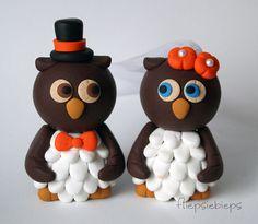 Custom Owl Wedding Cake Topper by fliepsiebieps on Etsy