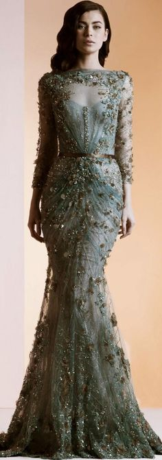 Weddbook is a content discovery engine mostly specialized on wedding concept. You can collect images, videos or articles you discovered  organize them, add your own ideas to your collections and share with other people - Ziad Nakad - Haute Couture S/S 2014 green #green