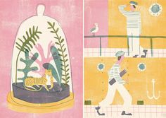 Barbara Dziadosz - lovely, pastel colored screen prints.