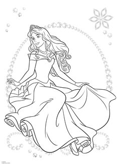 Blank Coloring Pages, Coloring Pages For Girls, Free Printable Coloring Pages, Coloring Sheets, Coloring Books, Disney Princess Coloring Pages, Disney Princess Colors, Disney Colors, Sleeping Beauty Coloring Pages