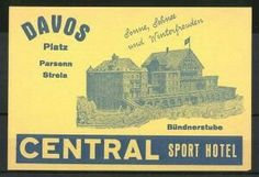 Davos, Central Sport-Hotel, Bündnerstube, Hotelgebäude Luggage Stickers, Davos, Back In The Day, Sports, Hs Sports, Sport