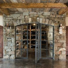 Rustic Wine Room Design Ideas, Pictures, Remodel and Decor