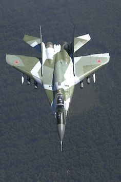 """Russia has ordered 16 Mikoyan MIG-29 SMT """"""""Fulcrums"""" as a stopgap to modernise it's ageing fleet. It is the present basic model, though with improvements, like dorsal fuel tanks for increased range,can perform air-air/-ground missions, & improved radar."""