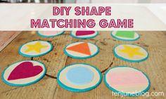 Ten June: DIY Wood + Felt Shape Matching Toy #kids #crafts #educational #toy