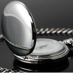 Luxury Design 12 Arabic Numbers Analog Flip Pocket Watch