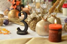 Freestanding Black Table Numbers  For Weddings Wedding by SunFla