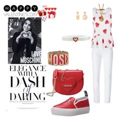 """valentine's casual-moschino"" by agnesmakoni ❤ liked on Polyvore featuring Love Moschino, Moschino, women's clothing, women, female, woman, misses, juniors and valentine"