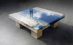New Lagoon Coffee Table by Alexandre Chapelin  LA Table is a table concept imagined by designer Alexandre Chapelin. These tables combine aesthetics plus their first function since they mimic the beauty of blue lagoons. Heres his latest creation : a coffee table that goes with this concept.            #xemtvhay