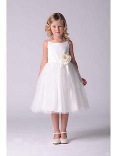 Tulle Ball Gown Flower Girl Dresses with Handamade Flowers 402048