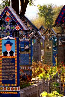 The Merry Cemetery.  Sapanta, Romania. Who told me the name of the documentary about the cemetery? My pin disappeared with the info! Help!