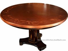 custom_copper_table_chair_withdesign_km_completed_table2_800 Fore More: http://www.myluxurykitchenandbath.com/copper_product/custom_order_story.shtml