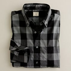 J.Crew | Secret Wash button-down shirt in gunmetal giant gingham: I probably own every color and style from J.Crew.  Their shirts just fit me perfectly.