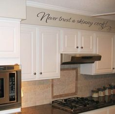 Never trust a skinny cook vinyl wall decal by OnDisplayGraphix
