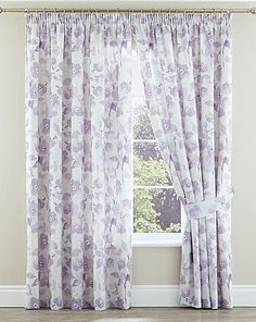 amelina pencil pleat lined curtains home essentials