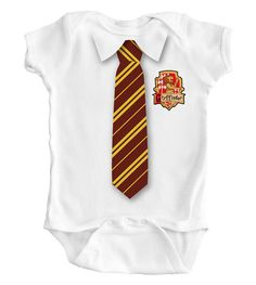 Hey, I found this really awesome Etsy listing at https://www.etsy.com/listing/186802479/harry-potter-tie-baby-romper-creeper