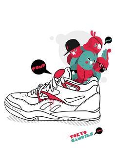 I art sneakers by Rubens Cantuni, via Behance