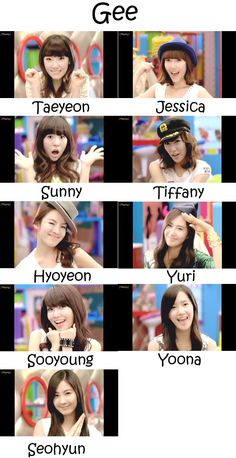 """The members of Girls' Generation in the """"Gee"""" MV Sooyoung, Snsd, Seohyun, Girls Generation Hyoyeon, K Pop, Girls' Generation Tiffany, Forever My Girl, Learn Korea, Taeyeon Jessica"""
