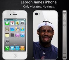 Never get tired of no ring on iPhone like LeBron joke.