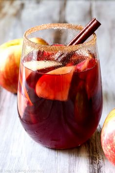 This honeycrisp apple sangria combines all of your favorite fall flavors into one delicious cocktail. This stuff disappears!