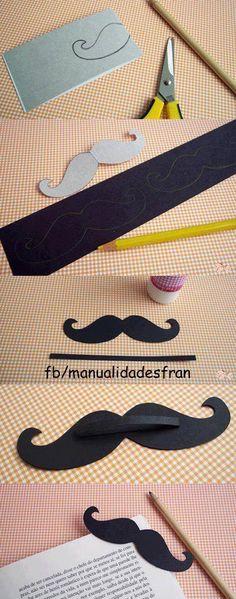 Marque-page moustachu!