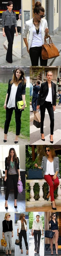 para Trabalhar Looks para Trabalhar – TPM ModernaLooks para Trabalhar – TPM Moderna Casual Work Outfits, Business Casual Outfits, Professional Outfits, Work Attire, Work Casual, Casual Chic, Casual Looks, Fall Outfits, Cute Outfits