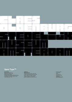 Vorm Type™ is a display typeface based on a formal grid. The letters occupy the same amount of space in an attempt to ease vertical and horizontal typesetting, i developed this series as an experiment as well as pay tribute to a design legend.