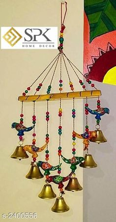 Wind Chimes Stylish Hanging Wind Chime Material: Wooden Size (L X W): 45 cm X 25 cm Description: It Has 1 Piece of Hanging Wind Chimes \Work: Hand painted Country of Origin: India Sizes Available: Free Size *Proof of Safe Delivery! Click to know on Safety Standards of Delivery Partners- https://ltl.sh/y_nZrAV3  Catalog Rating: ★4.1 (1632)  Catalog Name: Stylish Home Hanging Wind Chimes Vol 1 CatalogID_321271 C127-SC1619 Code: 591-2400556-