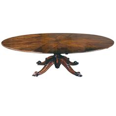 Circular Extending Dining Table In The Manner Of Jupe