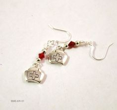 Red Cross Hat Nurse Earrings for Women, Dainty Silvertone – BlueMorningExpressions Buy Earrings, Dainty Earrings, Teardrop Earrings, Handmade Bracelets, Earrings Handmade, Handmade Jewelry, Handmade Gifts, Gifts For Girls, Gifts For Her