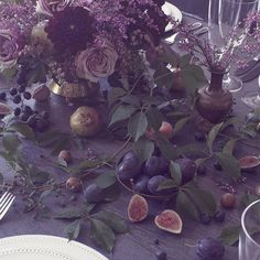 Fruit and farm tablescapes by Ariel Dearie Flowers