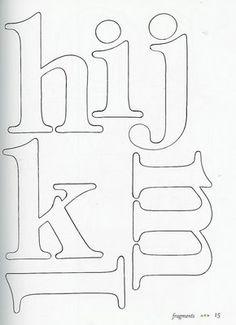Molde de Letras 2 - Feltro | Flickr: Intercambio de fotos