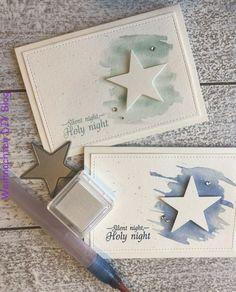 Sterne Nacht Weihnachtskarten #Christmascraftsstars #Nacht #Sterne #Weihnachtskarten