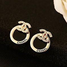 MMC Women's Fashion Jewelry Korean Style stainless steel Earring (White round stud 1)