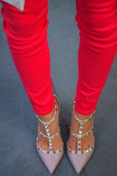 Colored pants and studs
