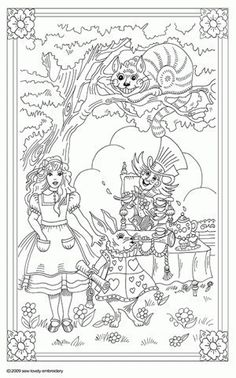 Alice in Wonderland Iron on Hand Embroidery Pattern