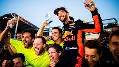 Ricciardo and Red Bull celebrate